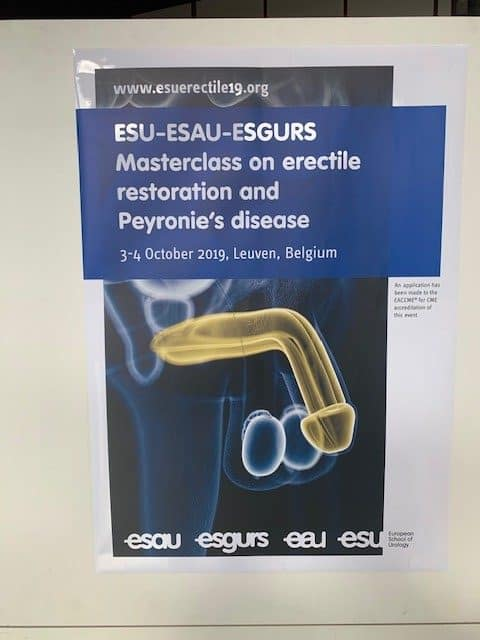 ESU-ESAU-ESGURS Masterclass on erectile restoration and Peyronie's disease